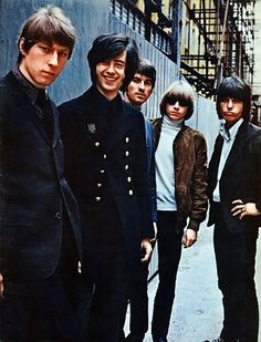 The Yardbirds Chris Dreja, Jimmy Page, Jim McCarty, Keith Relf and Jeff Beck of the Yardbirds pose for a portrait, circa 1966.