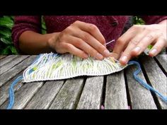 Finishing Woven Tapestry Ends [video]