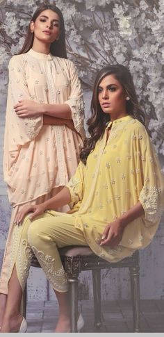 New fashian - Pakistani dresses Pakistani Couture, Pakistani Dress Design, Pakistani Outfits, Indian Outfits, Kurta Designs, Blouse Designs, Casual Dresses, Fashion Dresses, Modele Hijab