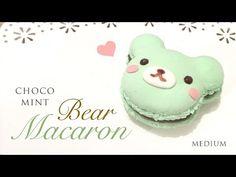Mint Chocolate Macaron Bear Clay Tutorial