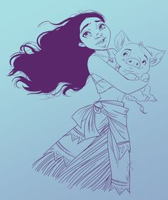 Moana Sketch by VanyPie
