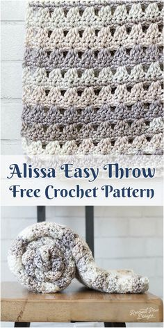 Alissa Easy Throw [Free Crochet Pattern] Adorable crochet afghan pattern! Visit Alissa easy throw pattern site.. #crochet #freepattern #blanket #crochetpattern #crochetlove