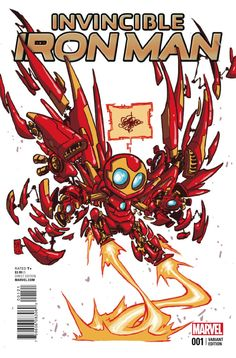 Invincible Iron Man #1 Variant Cover •Skottie Young