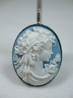 Vintage Cameo necklace  Pendant or brooch by trappedintheattic, $16.50