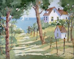 Perfectly Peaceful Nantucket Painting  - Perfectly Peaceful Nantucket Fine Art Print