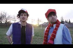 Ian Hecox and Anthony Padilla BTS of pokemon irl Smosh, Rain Jacket, Pokemon, Windbreaker, Bts, Jackets, Fashion, Down Jackets, Moda