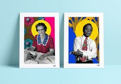 Stunning Print of Katherine Johnson on beautiful African Cloth  Sizes A3 (297mm x 420mm) A4 (210mm x 297mm)  **** We tend to become like those we admire, so I created these limited edition prints featuring iconic heroes and heroines, to celebrate them and the marks theyve made on the world, and to