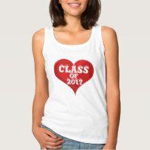 Class of 2017 Red Heart Love Tank Top Shirt