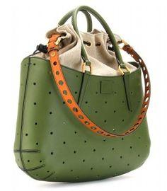 7220a8ebe6 Fendi-Mixed-Media-Shoulder-Bag Tote Handbags