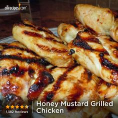 "Honey Mustard Grilled Chicken | ""This is one of my FAVORITE recipes on the planet. It is ridiculously easy & indescribably delicious!!!! I love it!!!"""