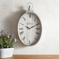 Galvanized Wall Clock--Crafted exclusively for Pier our wall clock is a mix of function and fashion. Both timepiece and statement piece, its vintage appeal imparts sophistication to any room you choose. Kitchen Clocks, Kitchen Decor, Kitchen Ideas, Decorating Kitchen, Kitchen Inspiration, Wall Clock Craft, Wall Clock For Bathroom, Tan Bathroom, Bathroom Ideas