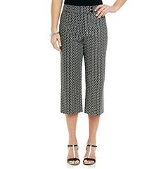 Product: Briggs New York® Traditional Waistband All Over Print Crop Pants