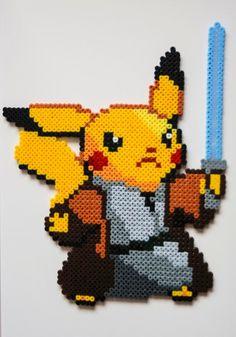 Pikachu Jedi Bead Sprite by CrackBrainCrafts on Etsy