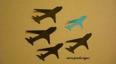 airplane wall art handmade paper design airplane by marjendesigns, $18.00