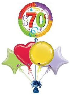 70th Perfection 70 Celebrate 50th Birthday Balloons