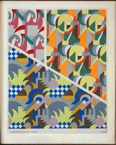 Kaleidoscope : ornements abstraits : quatre-vingt-sept motifs en vingt planches / composés par Ad. et M. P. Verneuil, pochoirs de J. Saudé.