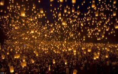 World Record: 15,185 paper lanterns were lit and safely released into the night air, breaking the previous record number of 12,740