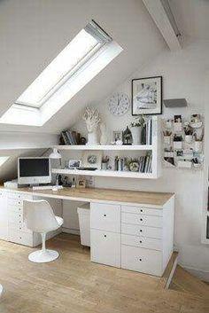 Window, bright office