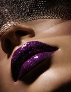 "sparkley purple lip stick/gloss => SOURCE: @Iris White Hamilton ""Makeup and Style .ME"" Board via."