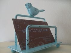 2 bird business card holders college desk organization office accessory craft show display, you choose colors