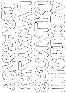 Alphabet for applique