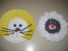Preschool Animal Crafts | March Lion and Lamb Craft | Fun Family Crafts