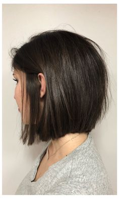 Blunt bob with layer