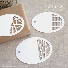 Paper-cut tags - Make your own by using decorative paper edgers to make tags  #giftwrap #tags #paperedgers