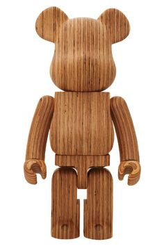 Yoshida & Co. Bearbrick - The Yoshida & Co. Bearbrick is a limited-edition designer toy that is built by Medicom Toys in celebration of the bag company Yoshida & Co. Toys For Boys, Kids Toys, Toy People, People News, Vinyl Toys, Designer Toys, Wood Toys, Wood Sculpture, Wood Art