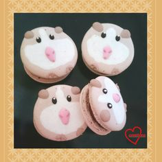Guinea Pig Macarons with Peppermint Milk Chocolate. Um, ADORABLE