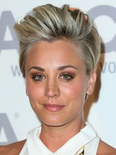 womens clippered haircuts kaley cuoco s look book hair 5951