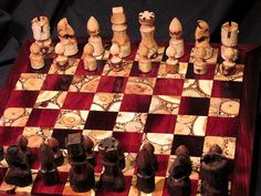 Chess set by naturalchess on Etsy, $369.00