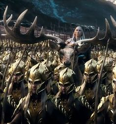 The Hobbit: The Battle of the Five Armies - Thranduil on his elk.