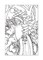 old fashion santa coloring pages - photo#8