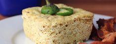 Keto Jalapeno Bacon Mug Cake Keto Mug Bread, Keto Mug Cake, Low Carb Bread, Low Carb Keto, Low Carb Recipes, Lunch Recipes, Stuffed Jalapenos With Bacon, Stuffed Peppers, Buckwheat Cake