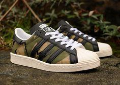 Adidas Superstar 80's 84 LAB x Clot 'Camouflage'