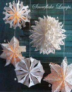 Large Holiday Snowflake Lights: Snowflake Pendant Lamp