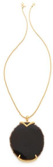 Kenneth Jay Lane Stone Pendant Necklace