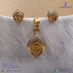 Gold 916 Premium Design Get in touch with us on Gold Jhumka Earrings, Gold Earrings Designs, Gold Plated Necklace, Dubai Gold Jewelry, Gold Jewellery Design, Luxury Jewelry, Pendant Jewelry, Pendant Set, Pendant Earrings
