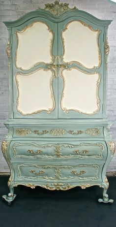 SOLD - Romantic Vintage French Provincial Chest of Drawers Armoire Cabinet chic chifferobe ROCOCO Louis XVI