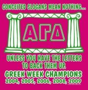 this would be such a cute shirt, minus the greek week champion stuff