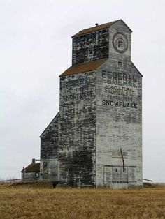 Derelict Grain Elevator in Snowflake, Manitoba