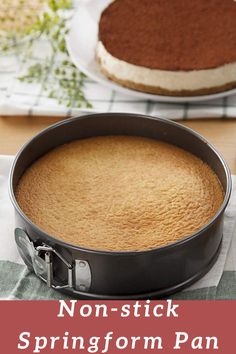 Perfect for cheesecake, mousse, quiche and more, this 6 inch springform pan is an essential item in any baker's kitchen Double layer non-stick coating eliminates the need for flouring the pan. Bakers Kitchen, Kitchen Items, Kitchen Gadgets, Snack Recipes, Dessert Recipes, Snacks, Delicious Desserts, Yummy Food, Springform Pan