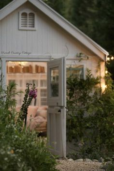 An inspired outdoor hideaway-  French Country Cottage She Shed