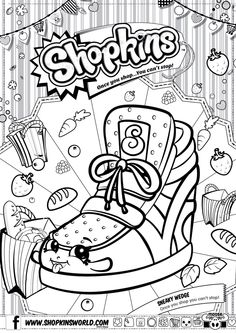 Shopkins Sneaky Wedge Coloring Pages Printable And Book To Print For Free Find More Online Kids Adults Of