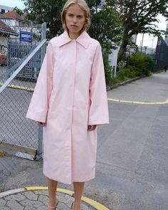 "Saks Potts on Instagram: ""COL13 - MILAN COAT, BABY PINK"" Saks Potts, Cold Day, Editorial Fashion, Milan, Raincoat, October, Style Inspiration, Pink, Baby"