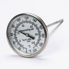 An accurate thermometer is crucial to the success of your at home cheese making. Our thermometers are easy to read so you can keep an eye on your cheese. Shop now. Cheese Maker, Cheese Shop, Cheese Making Supplies, Organic Supplies, How To Make Cheese, Clock, Stainless Steel, Kitchenware, Christmas