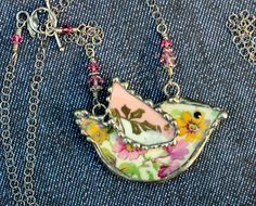 Broken China Jewelry Necklace China Mosaic