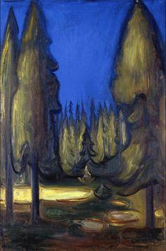 Dark Spruce Forest 1899. Edward Munch (1863-1944)