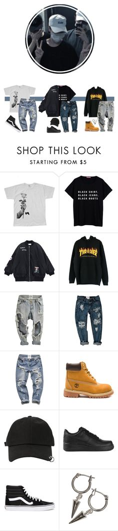 """+ Eating Out +"" by official-1tym ❤ liked on Polyvore featuring We Are Still Bold and Beautiful, Chicnova Fashion, OneTeaspoon, Timberland, StyleNanda, NIKE, Vans, H&M, men's fashion and menswear"